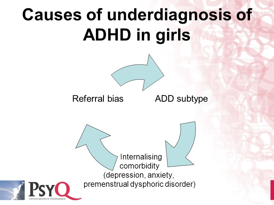 Causes of underdiagnosis of ADHD in girls