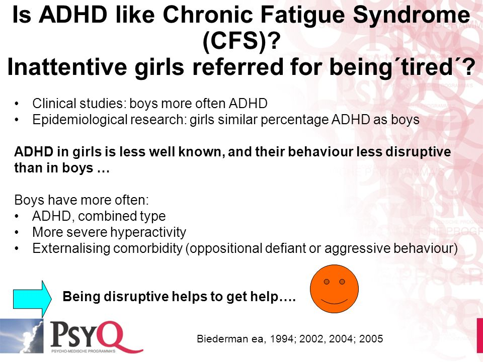 Is ADHD like Chronic Fatigue Syndrome (CFS)