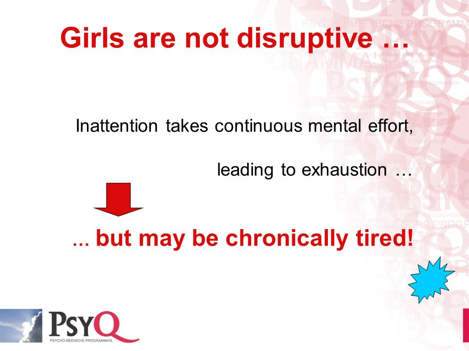 Girls are not disruptive …