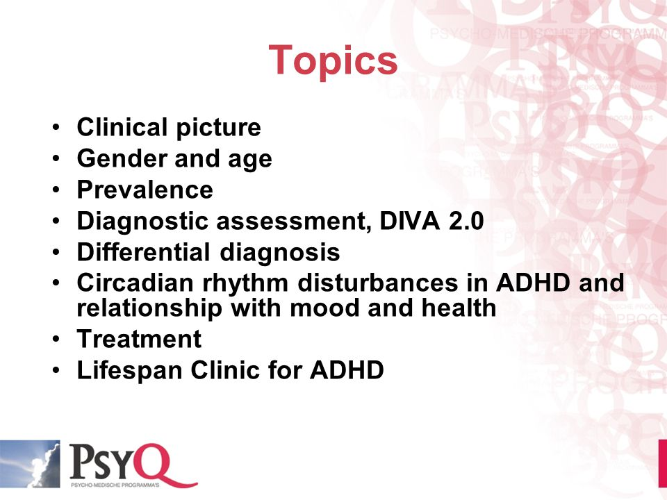 Topics Clinical picture Gender and age Prevalence