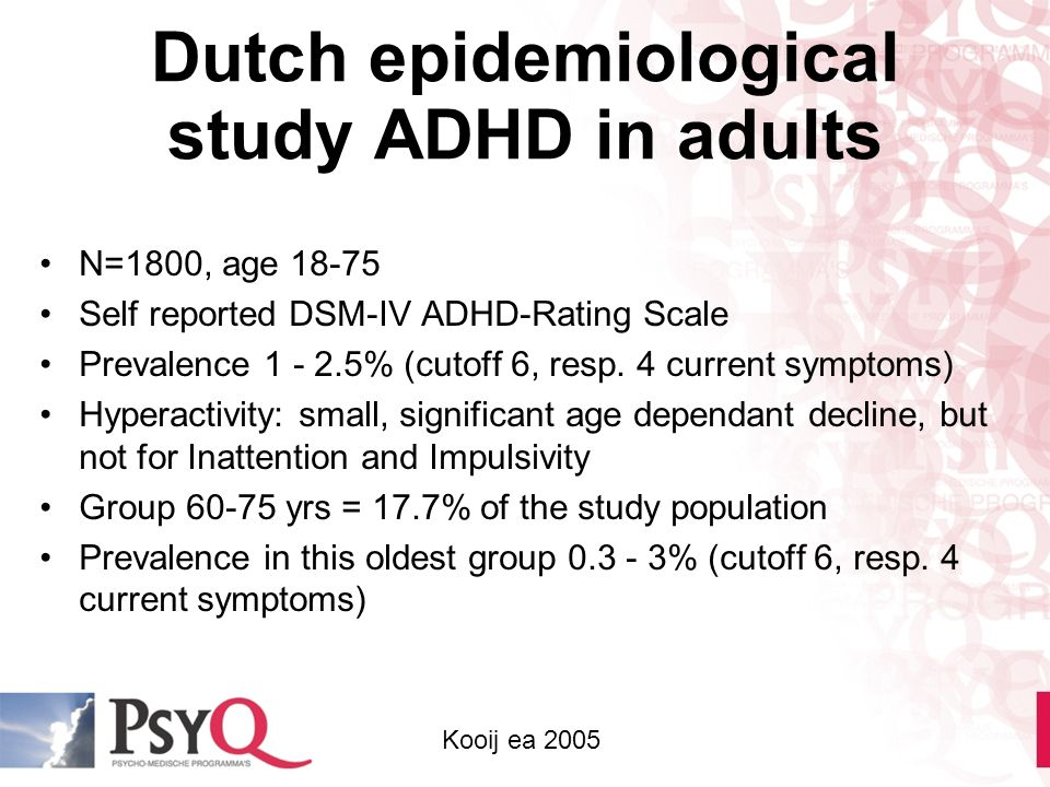 Dutch epidemiological study ADHD in adults