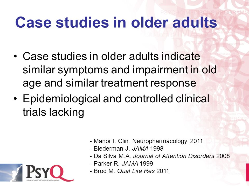 Case studies in older adults