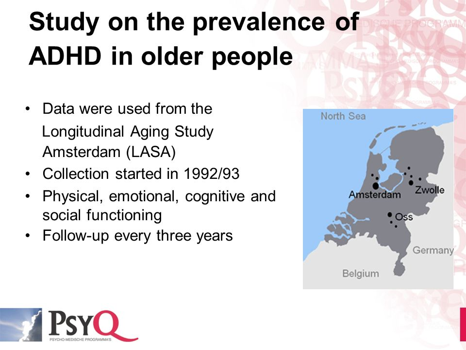 Study on the prevalence of ADHD in older people