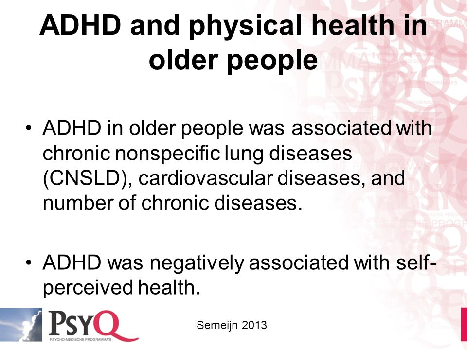 ADHD and physical health in older people