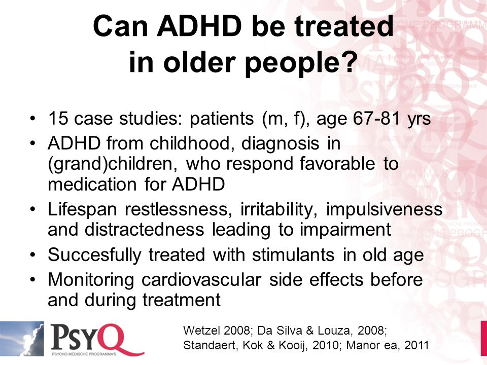 Can ADHD be treated in older people