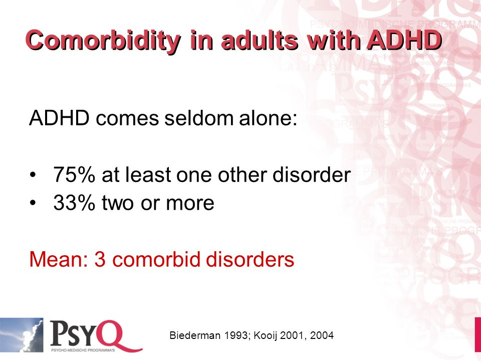 Comorbidity in adults with ADHD