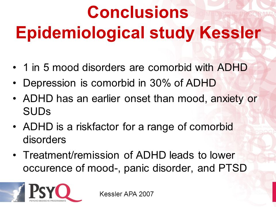 Conclusions Epidemiological study Kessler