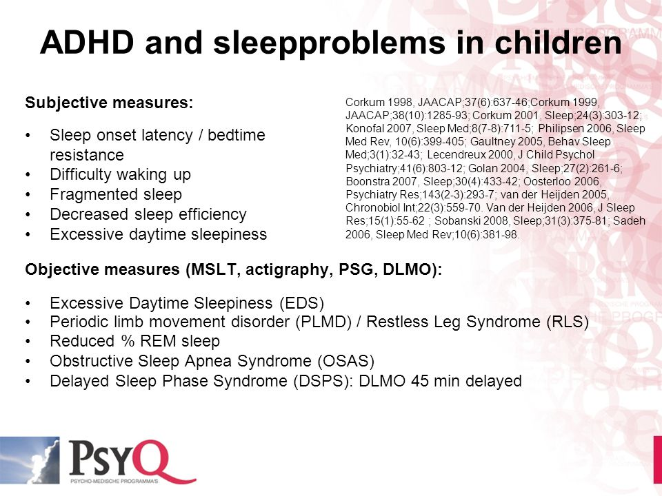 ADHD and sleepproblems in children