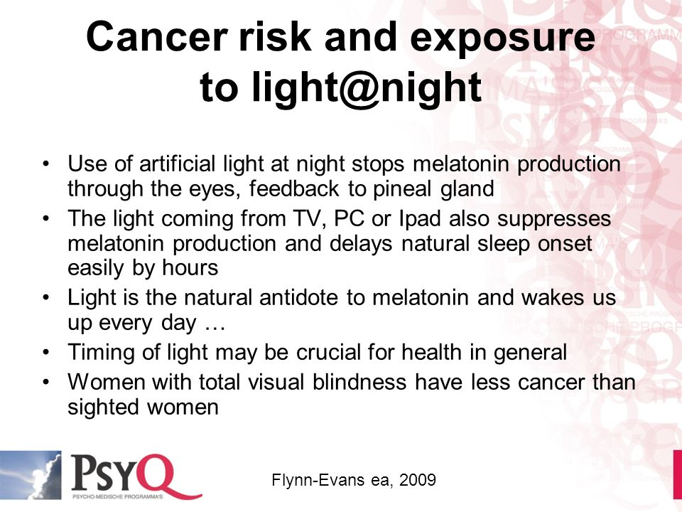 Cancer risk and exposure to light@night