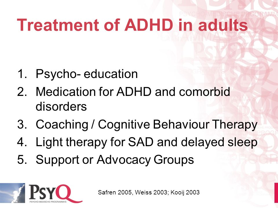 Treatment of ADHD in adults