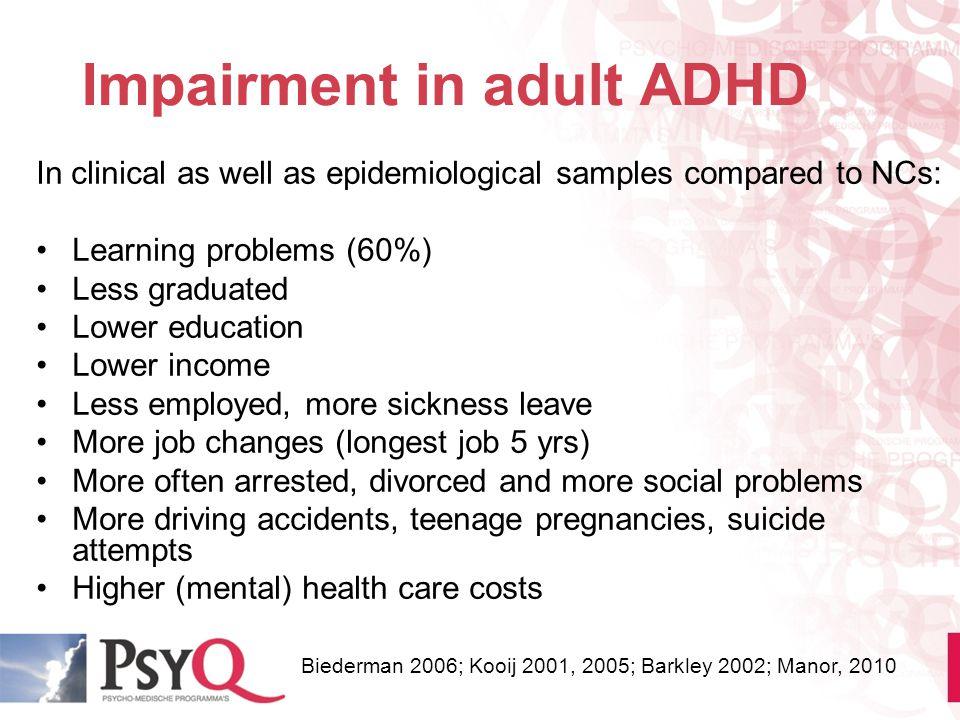 Impairment in adult ADHD