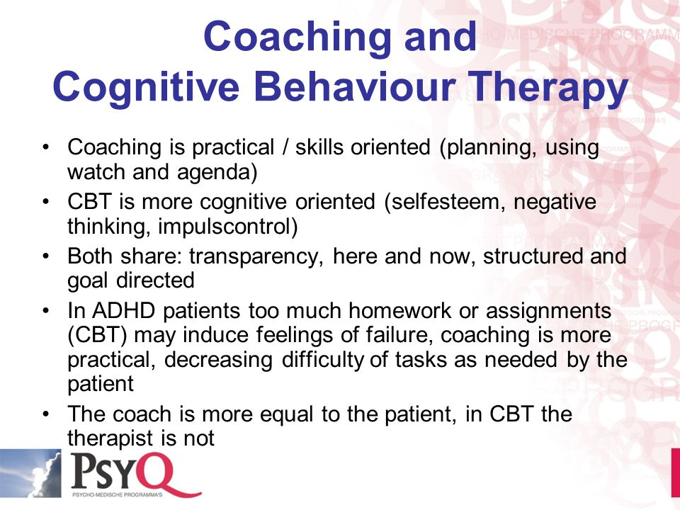 Coaching and Cognitive Behaviour Therapy