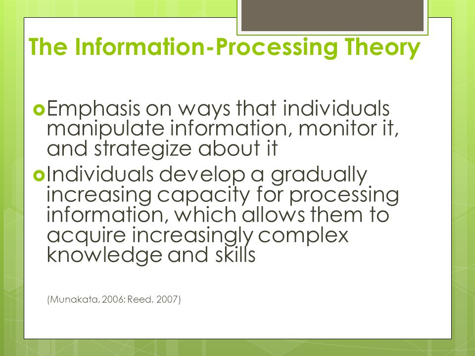 The Information-Processing Theory