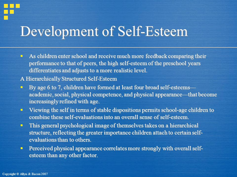 Development of Self-Esteem