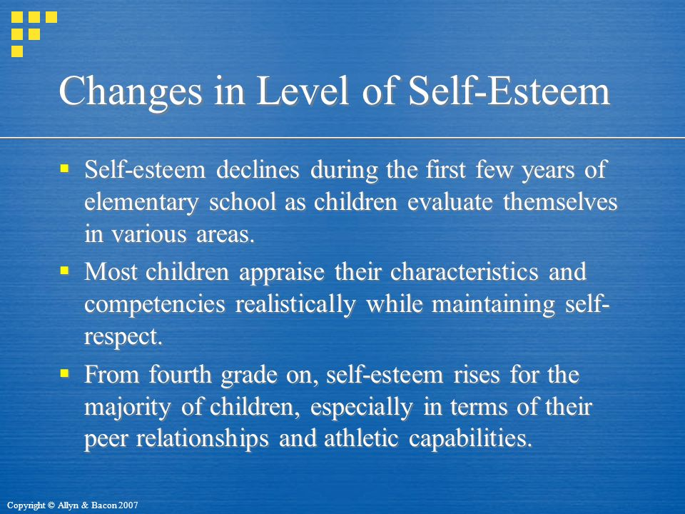 Changes in Level of Self-Esteem