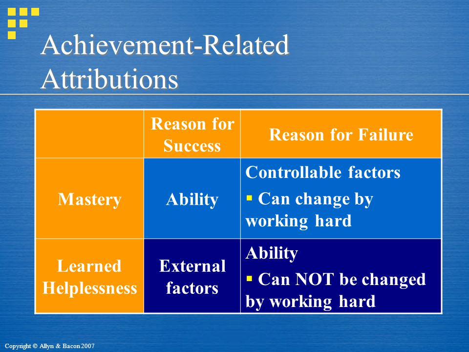 Achievement-Related Attributions