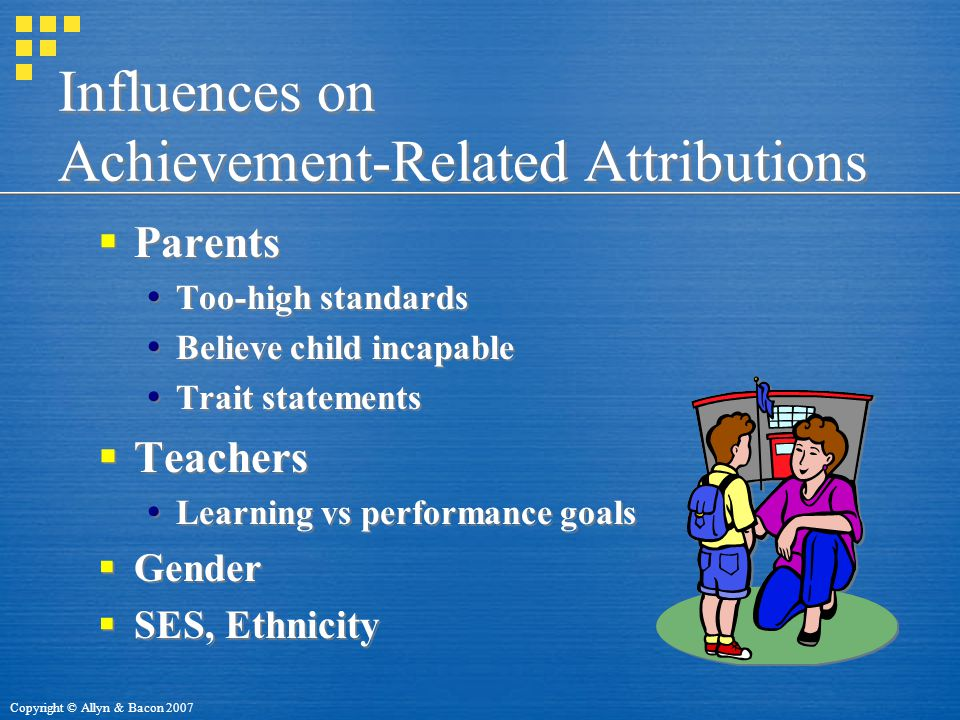 Influences on Achievement-Related Attributions
