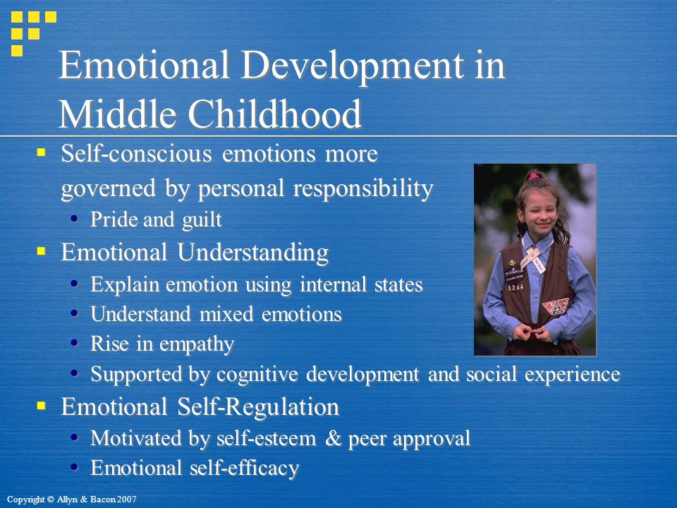 Emotional Development in Middle Childhood