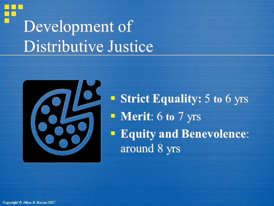 Development of Distributive Justice