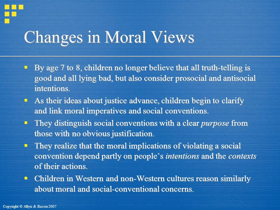 Changes in Moral Views