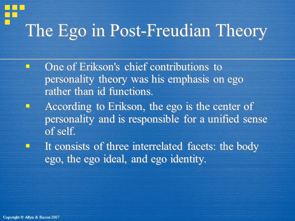 The Ego in Post-Freudian Theory