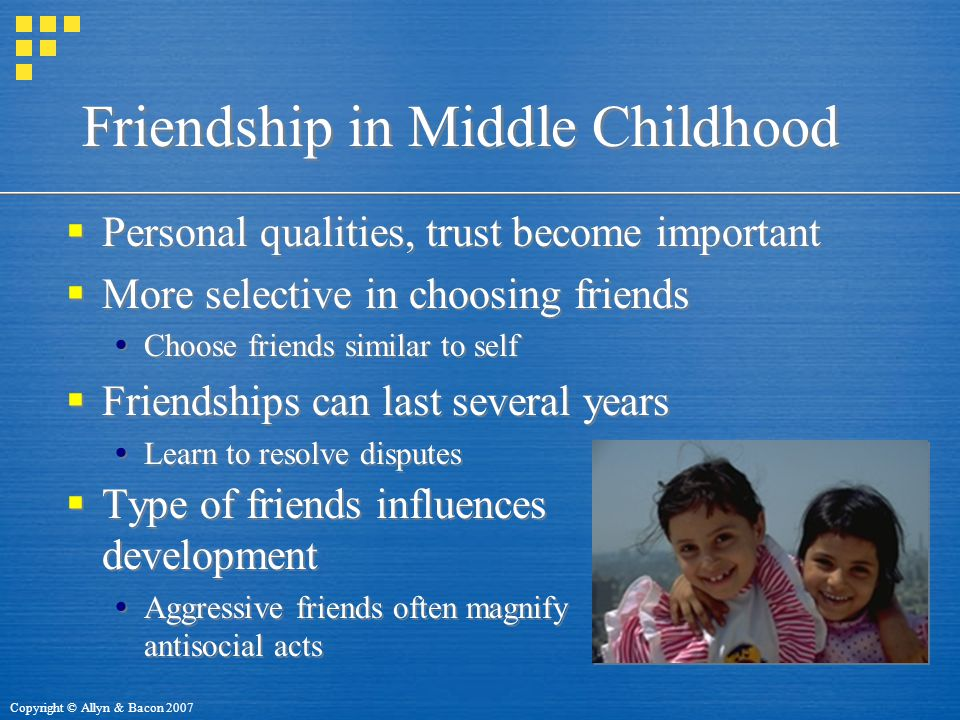 Friendship in Middle Childhood
