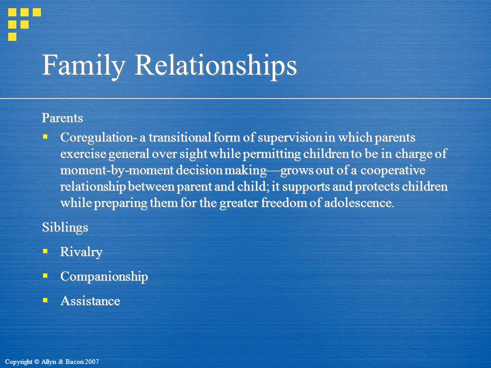 Family Relationships Parents
