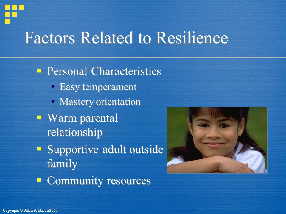 Factors Related to Resilience