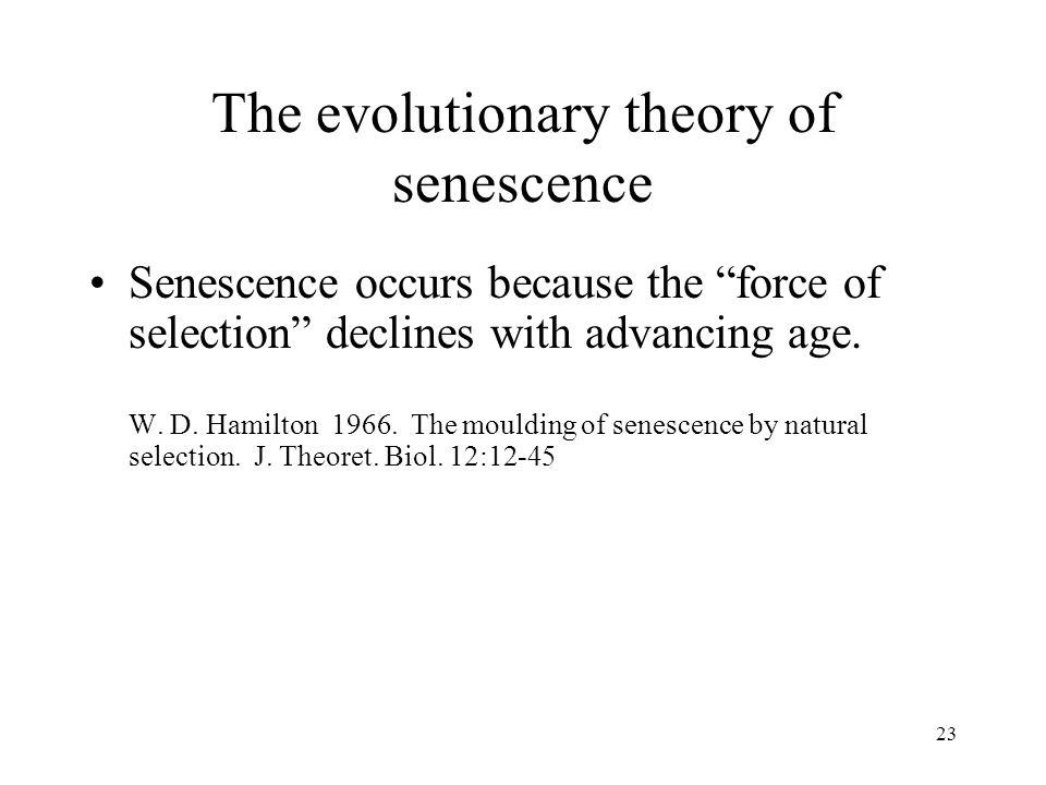 The evolutionary theory of senescence