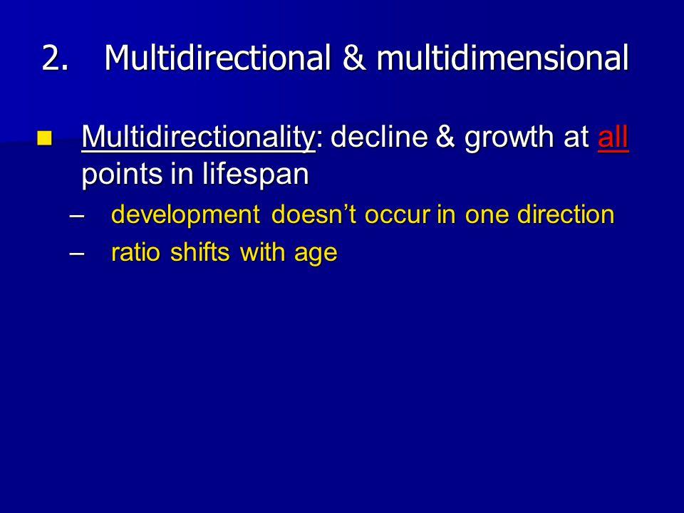 Multidirectional & multidimensional