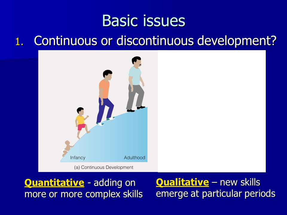 Basic issues Continuous or discontinuous development