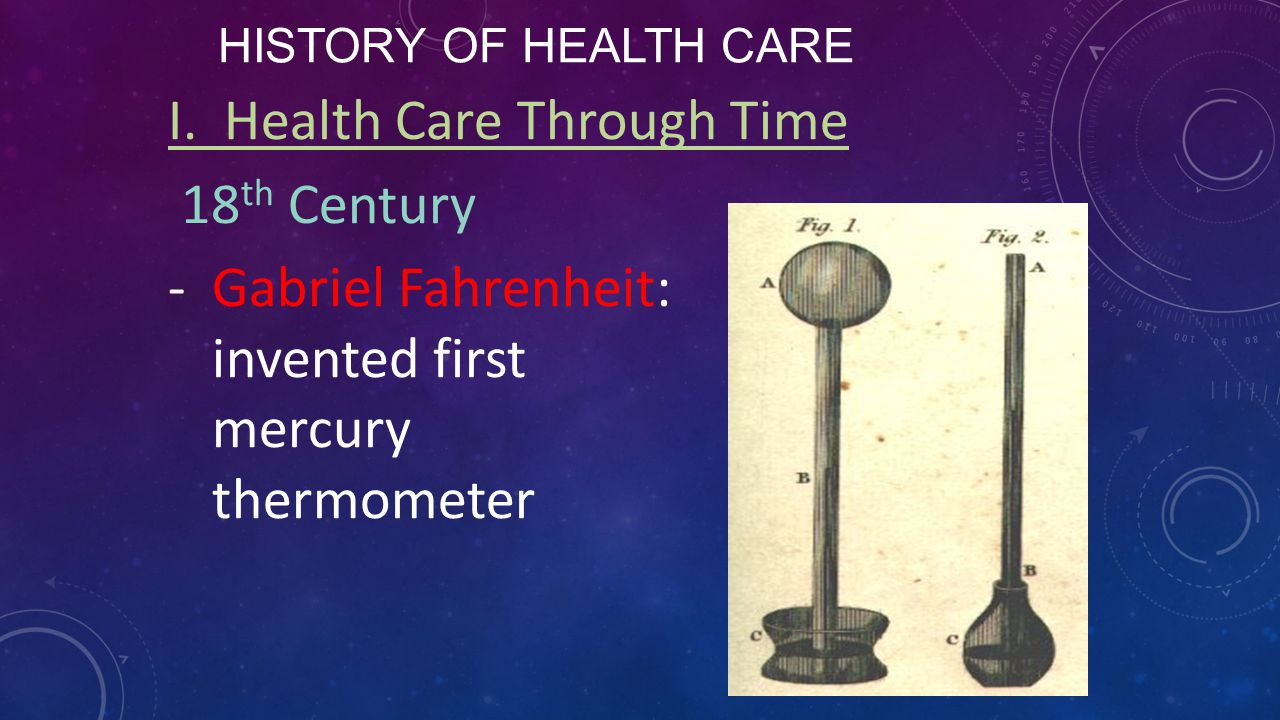 I. Health Care Through Time 18th Century