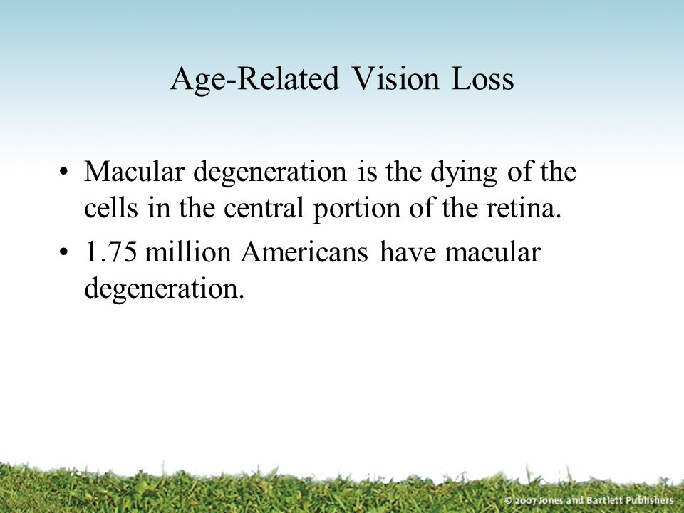 Age-Related Vision Loss