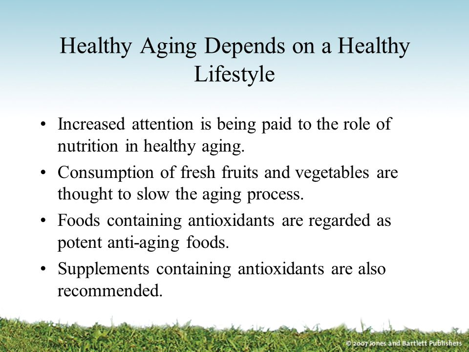 Healthy Aging Depends on a Healthy Lifestyle