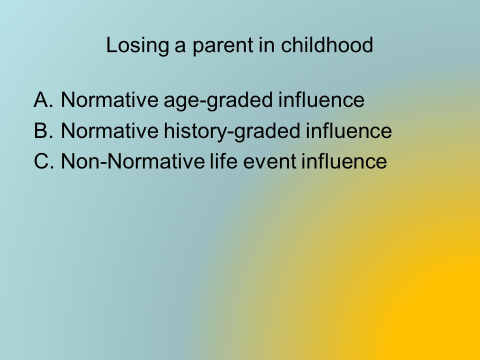 Losing a parent in childhood