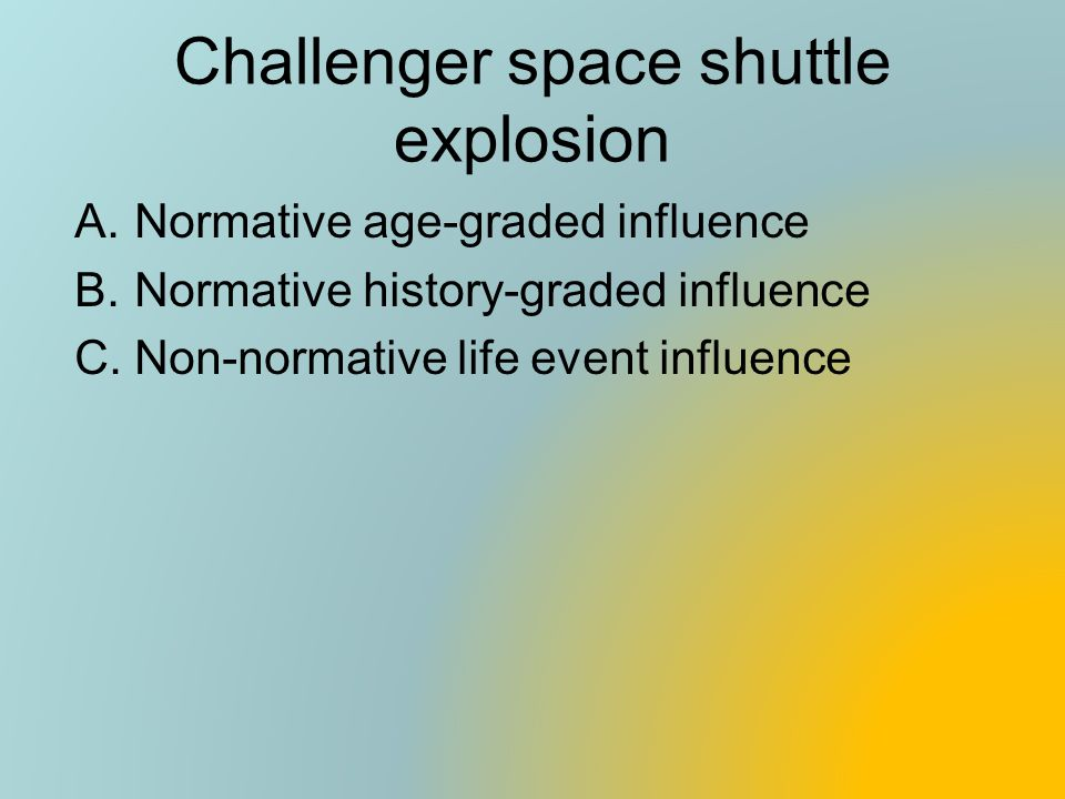 Challenger space shuttle explosion