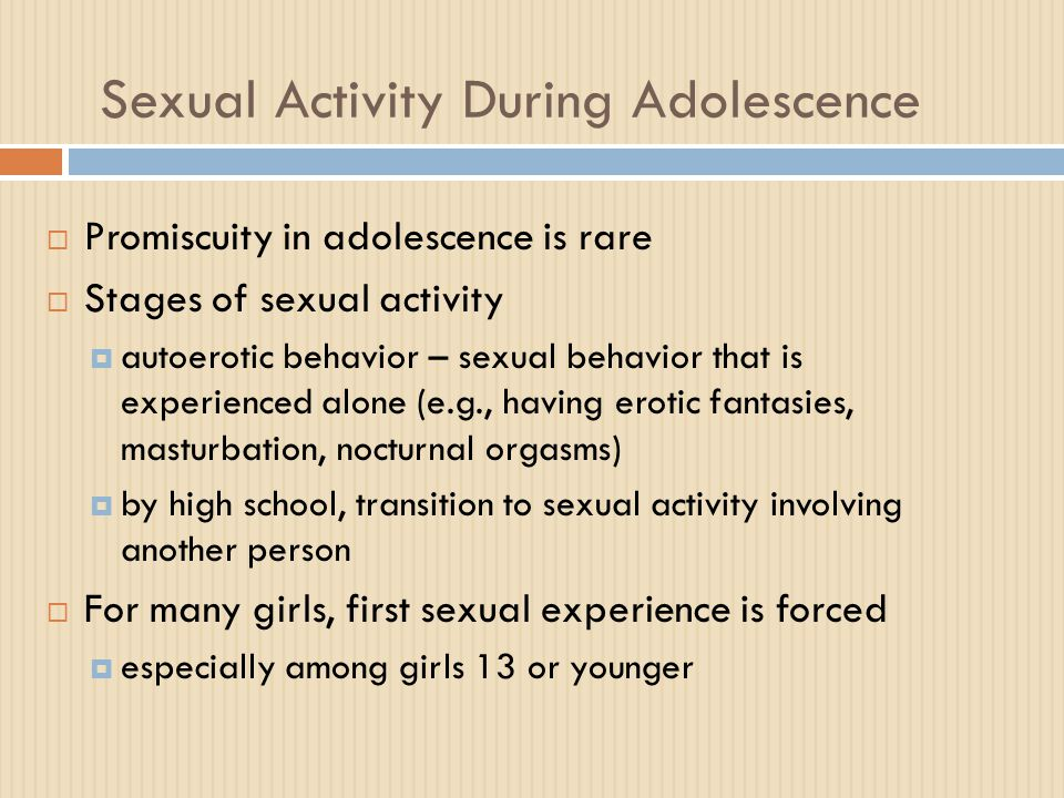 Sexual Activity During Adolescence