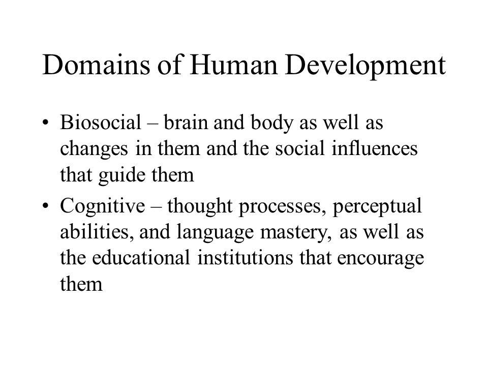 Domains of Human Development