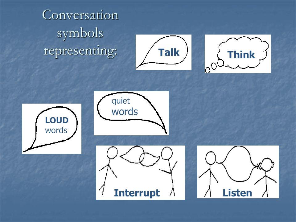 Conversation symbols representing:
