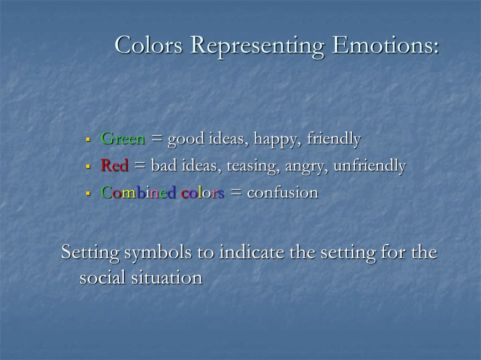 Colors Representing Emotions: