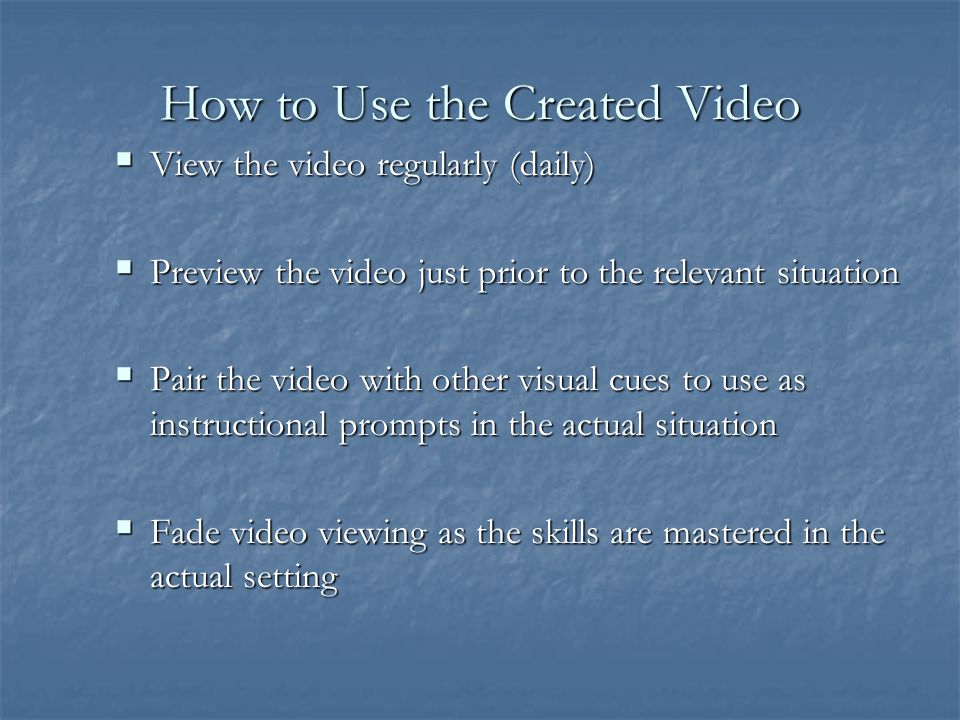 How to Use the Created Video