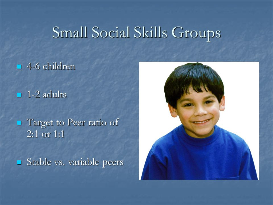 Small Social Skills Groups