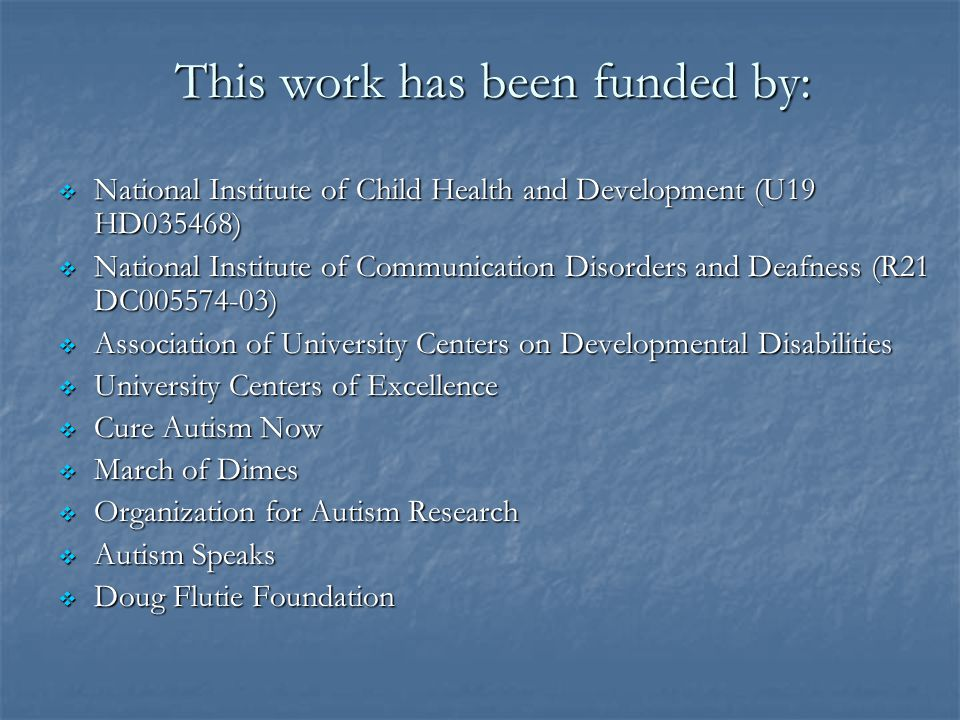 This work has been funded by: