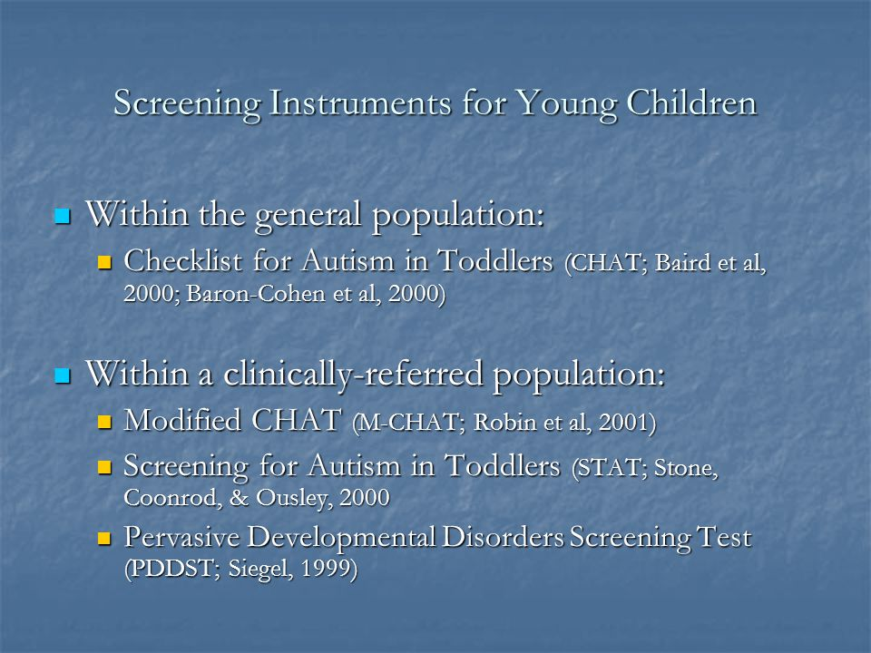 Screening Instruments for Young Children