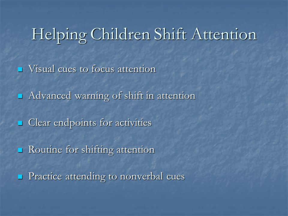 Helping Children Shift Attention