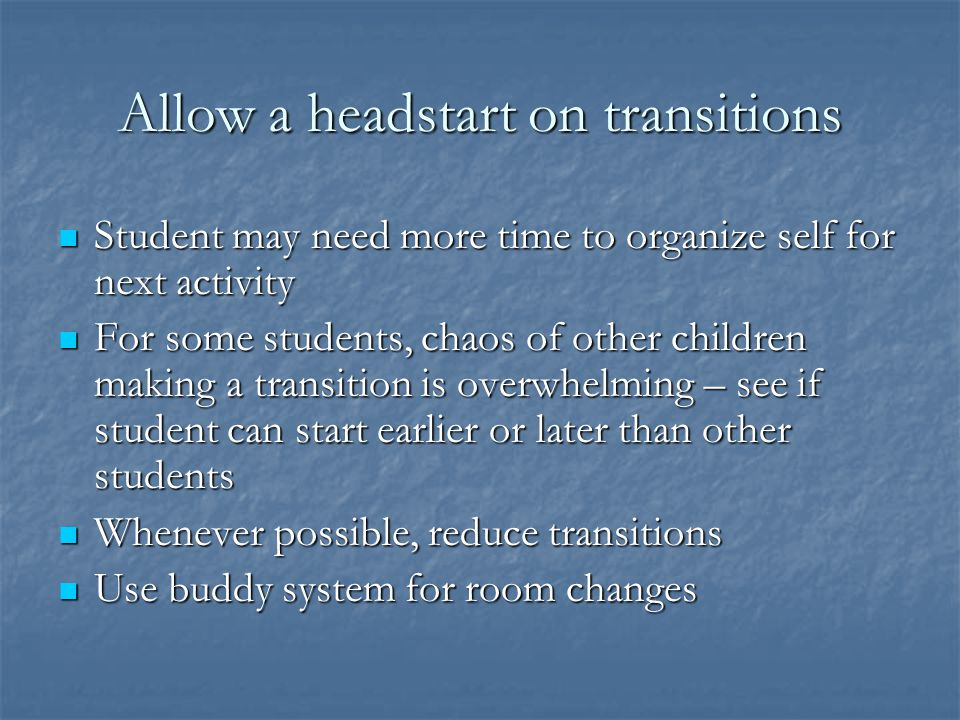 Allow a headstart on transitions