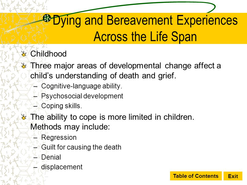 Dying and Bereavement Experiences Across the Life Span
