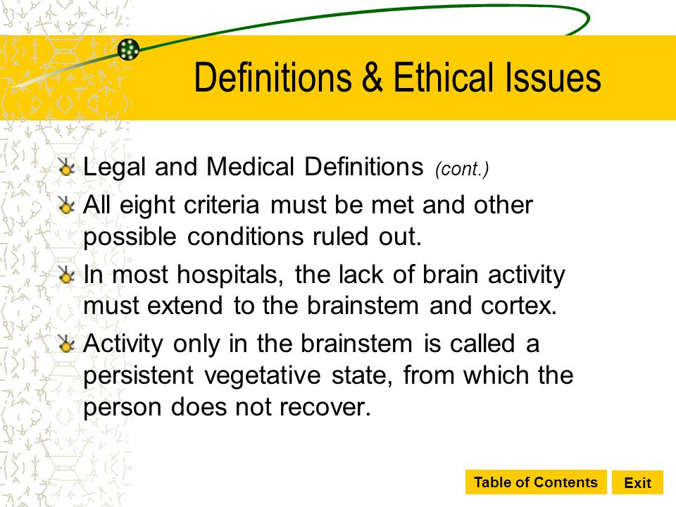 Definitions & Ethical Issues