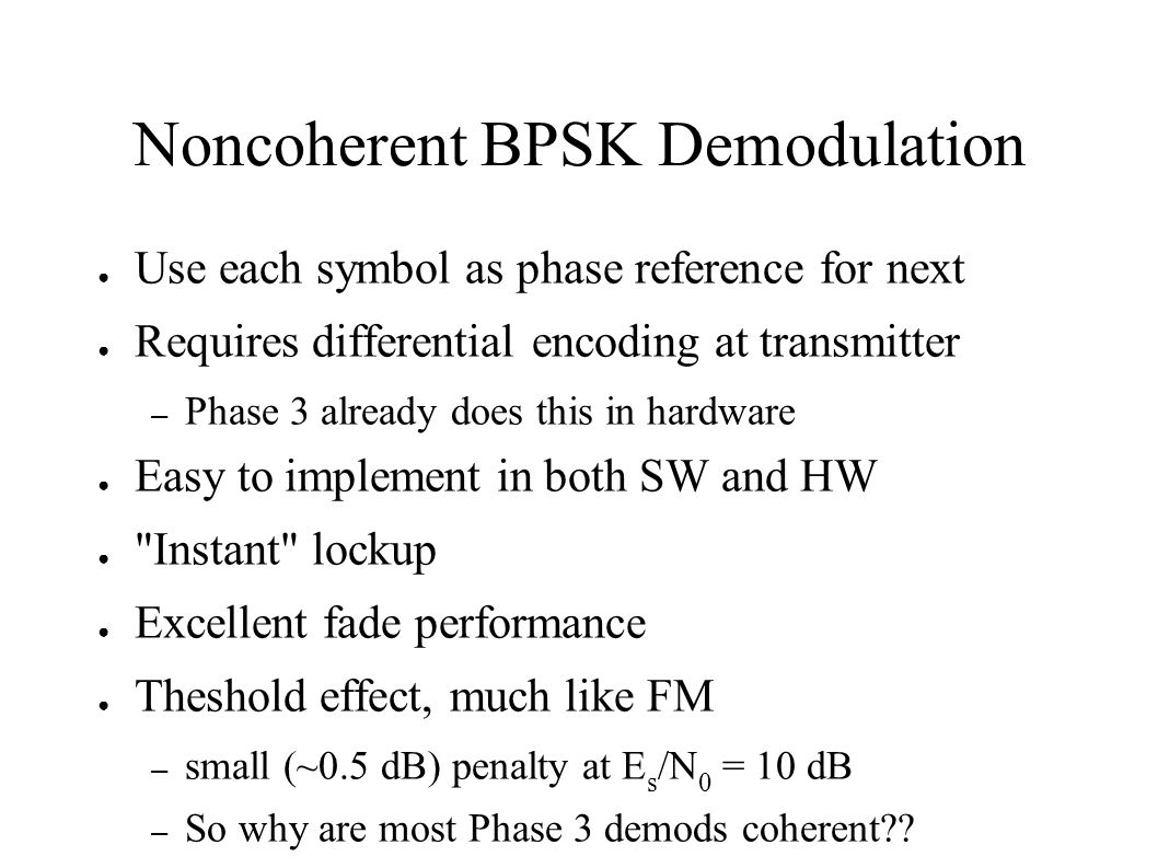 Noncoherent BPSK Demodulation