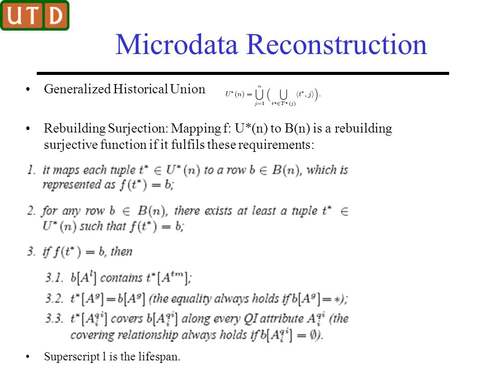 Microdata Reconstruction
